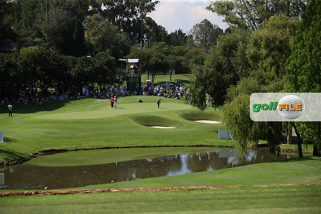 View of the 14th green during Round Three of the 2016 Tshwane Open, played at the Pretoria Country Club, Waterkloof, Pretoria, South Africa.  13/02/2016. Picture: Golffile | David Lloyd<br /> <br /> All photos usage must carry mandatory copyright credit (&copy; Golffile | David Lloyd)
