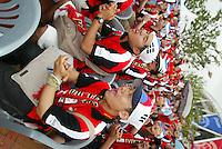 South Korean fans outside the stadium.The USA tied South Korea, 1-1, during the FIFA World Cup 2002 in Daegu, Korea.
