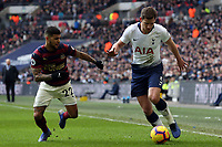 DeAndre Yedlin of Newcastle United and Jan Vertonghen of Tottenham Hotspur during Tottenham Hotspur vs Newcastle United, Premier League Football at Wembley Stadium on 2nd February 2019