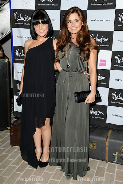 Stephanie Wearing and Rachel Shenton arrives for the Malmaison Hotel Liverpool re-opening party...23/09/2011  Picture by Steve Vas/Featureflash