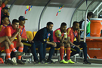 PEREIRA - COLOMBIA, 18-01-2020: Arturo Reyes técnico de Colombia durante partido entre Colombia y Argentina por la fecha 1, grupo A, del CONMEBOL Preolímpico Colombia 2020 jugado en el estadio Hernán Ramírez Villegas de Pereira, Colombia. /  Arturo Reyes coach of Colombia during match against Argentina of the date 1, group A, for the CONMEBOL Pre-Olympic Tournament Colombia 2020 played at Hernan Ramirez Villegas stadium in Pereira, Colombia. Photo: VizzorImage / Julian Medina / Cont