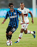 Taider Saphir of FC Internazionale Milano being followed by Nigel de Jong of AC Milan during the AC Milan vs FC Internazionale Milano as part of the International Champions Cup 2015 at the Longgang Stadium on 25 July 2015 in Shenzhen, China. Photo by Hendrik Frank / Power Sport Images