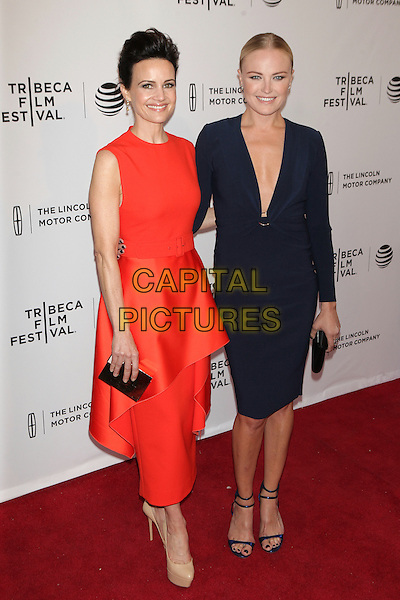 NEW YORK, NEW YORK - APRIL 15: Carla Gugino and Malin Akerman at the World Premiere of 'Wolves'during the 2016 Tribeca Film Festival at SVA Teather on April 15, 2016 in New York City. <br /> CAP/MPI99<br /> &copy;MPI99/Capital Pictures