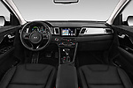 Stock photo of straight dashboard view of a 2018 KIA Niro Plug-in Hybrid Sense 5 Door SUV