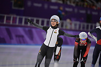 OLYMPIC GAMES: PYEONGCHANG: 24-02-2018, Gangneung Oval, Long Track, Mass Start Ladies, Olympic Champion Nana Takagi (JPN), ©photo Martin de Jong