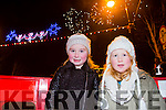 Enjoying the New Year's Eve fireworks Spectacular in Denny Street were Grace Nolan and Nicole Hartmann