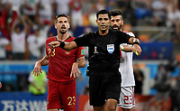 SARANSK - RUSIA, 25-06-2018: Enrique CACERES (PAR),  arbitro, durante partido de la primera fase, Grupo B, entre RI de Irán y Portugal por la Copa Mundial de la FIFA Rusia 2018 jugado en el estadio Mordovia Arena en Saransk, Rusia. / Enrique CACERES (PAR), referee, during the match between IR Iran and Portugal of the first phase, Group B, for the FIFA World Cup Russia 2018 played at Mordovia Arena stadium in Saransk, Russia. Photo: VizzorImage / Julian Medina / Cont
