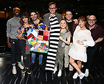 """Ensemble cast during the Broadway Opening Night Actors' Equity Legacy Robe Ceremony honoring Jill Abramovitz for """"Beetlejuice"""" at The Wintergarden on April 25, 2019  in New York City."""