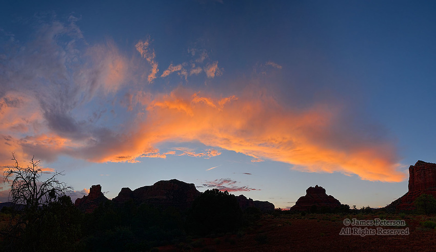Twilight in Big Park, near Sedona, Arizona