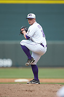 Winston-Salem Dash relief pitcher Matt Foster (14) in action against the Salem Red Sox at BB&T Ballpark on April 22, 2018 in Winston-Salem, North Carolina.  The Red Sox defeated the Dash 6-4 in 10 innings.  (Brian Westerholt/Four Seam Images)