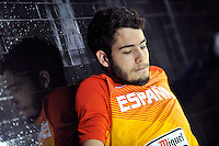 Serbia´s ABRINES, Alex and Spain's  MENGANITO during 2014 FIBA Basketball World Cup Group Phase-Group A, match Serbia vs Spain. Palacio  Deportes of Granada. September 4,2014. (ALTERPHOTOS/Raul Perez)