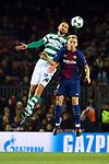UEFA Champions League 2017/2018 - Matchday 6.<br /> FC Barcelona vs Sporting Clube de Portugal: 2-0.<br /> Bas Dost vs Ivan Rakitic.