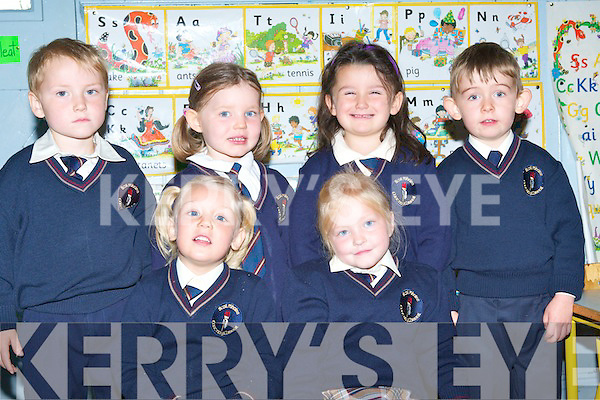 ENJOYING: Having a great time on their first day of school at Scoil Mhuire, Knocknagoshel..   Copyright Kerry's Eye 2008