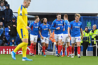 Marcus Harness of Portsmouth third left celebrates scoring the first goal during Portsmouth vs AFC Wimbledon, Sky Bet EFL League 1 Football at Fratton Park on 11th January 2020