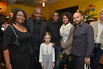 MIAMI, FL - MARCH 04: Marlene Bastien, Jimmy Jean-Louis, Olympia Belle, Omar Desire, Louikencia Jean D and David belle attend the after party to the Miami Film Festival screening for 'Serenade for Haiti' at Tap Tap Restaurant on March 4, 2017 in Miami, Florida. ( Photo by Johnny Louis / jlnphotography.com )