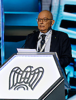 Giorgio Squinzi pre3sidente di confindustria ,partecipa ad un convegno di Confindustria a Napoli