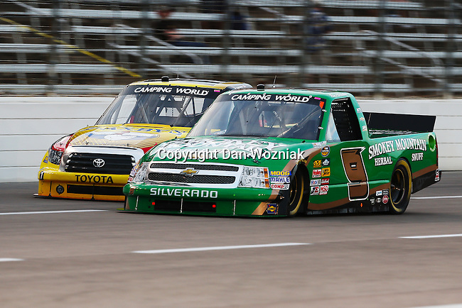 Camping World Truck Series driver Ron Hornaday Jr. (9) in action during the NCWTS Winstar World Casino 400 race at Texas Motor Speedway in Fort Worth,Texas.