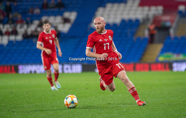Cardiff - UK - 9th September :<br />Wales v Belarus Friendly match at Cardiff City Stadium.<br />Jonny Williams of Wales.<br />Editorial use only