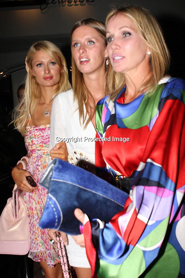 .8-24-08.Paris Hilton leaving nobu sushi restaurant in Malibu with sister Nicky Hilton ..www.AbilityFilms.com.805-427-3519.AbilityFilms@yahoo.com