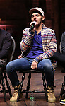"Anthony Lee Medina during the eduHAM Q & A before The Rockefeller Foundation and The Gilder Lehrman Institute of American History sponsored High School student #EduHam matinee performance of ""Hamilton"" at the Richard Rodgers Theatre on November 13, 2019 in New York City."