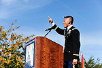 """Openly gay National Guardsman Dan Choi addresses a crowd of thousands at the National Equality March rally, Sunday, Oct. 11, 2009, calling for an end to the so-called """"Don't Ask Don't Tell"""" policy. The march wound through downtown Washington, DC and the National Mall before culminating at the Capitol Building. Choi and other LGBT rights icons such as NAACP President Julian Bond, screenwriter Dustin Lance Black, and activist Cleeve Jones called for full legal equality across the country, marking the 30th anniversary of the first such march, led by Harvey Milk in 1979. (Joseph Shemuel/pressphotointl.com)"""