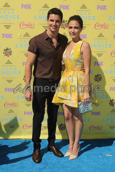 16 August 2015 - Los Angeles, California - Robbie Amell, Italia Ricci. Teen Choice Awards 2015 - Arrivals held at the USC Galen Center. Photo Credit: Byron Purvis/AdMedia