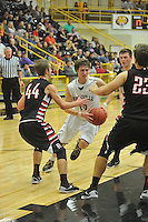 NWA Democrat-Gazette/MICHAEL WOODS • @NWAMICHAELW<br /> Huntsville vs Pea Ridge during the boys 4A-1 District Tournament in Prairie Grove Saturday February 20, 2016.  Visit nwadg.com/photos to see more photographs from the game.