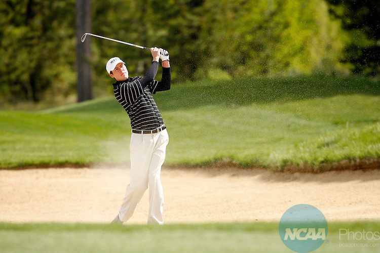 03 JUNE 2006:  Kyle Reifers of Wake Forest University chips out of the sand during the Division I Men's Golf Championship held at the Crosswater Golf Club at Sunriver Resort in Sunriver, OR.  Reifers tied for 2nd place with a -8 score.  Jamie Schwaberow/NCAA Photos