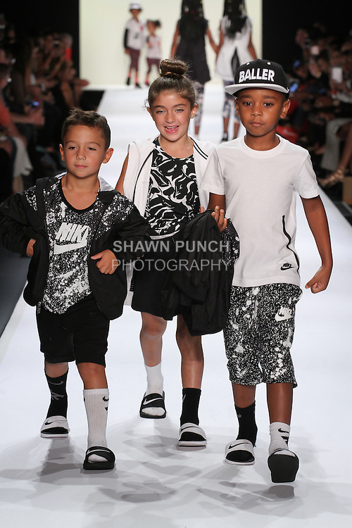 Image from the Nike Spring Summer 2017 children's collection fashion show for Rookie USA runway show presented by Haddad Brands, during New York Fashion Week: The Shows in Skylight at Moynihan Station on September 8, 2016.