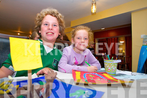Attending the Kerry County Museum Summer History Camp on Wednesday 24th were, from left: Dylan Duffy and Emily Brosnan.