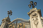 Gates of Buckingham Palace, London UK