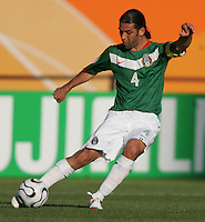 Mexico's Rafael Marquez. Mexico defeated Iran 3-1 during a FIFA World Cup Group D match at Franken-Stadion, Nuremberg, Germany on Sunday June 11, 2006.