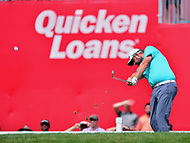 Potomac, MD - June 29, 2017: Marc Leishman tees off on the 18th hole during Round 1 of professional play at the Quicken Loans National Tournament at TPC Potomac at Avenel Farm in Potomac, MD, June 29, 2017.  (Photo by Don Baxter/Media Images International)