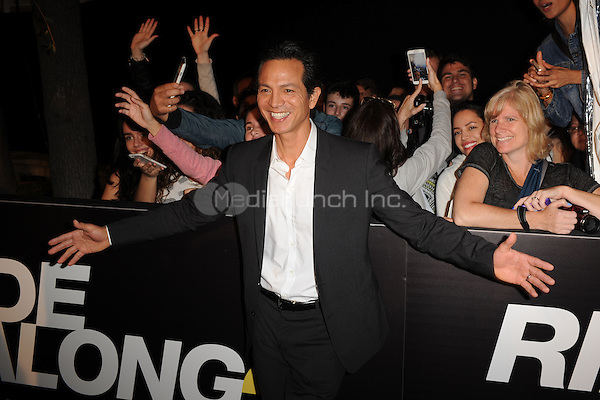 MIAMI BEACH, FL - JANUARY 06: Benjamin Bratt attends the world premiere of 'Ride Along 2' at Regal South Beach Cinema on January 6, 2016 in Miami Beach, Florida. Credit: mpi04/MediaPunch