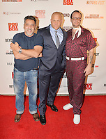 LOS ANGELES, CA - SEPTEMBER 30: Louis Anthony Perez, Christopher Matthew Cook and Jeff Hilliard at the retrospective of Paul Schrader's body of work and The Beyond Fest Screening and Retrospective of Dog Eat Dog hosted by American Cinematheque at the Egyptian Theatre in Los Angeles, California on September 30, 2016. Credit: Koi Sojer/Snap'N U Photos/MediaPunch