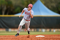 Ball State Cardinals outfielder Scott Tyler (7) during a game against the Dartmouth Big Green on March 7, 2015 at North Charlotte Regional Park in Port Charlotte, Florida.  Ball State defeated Dartmouth 7-4.  (Mike Janes/Four Seam Images)