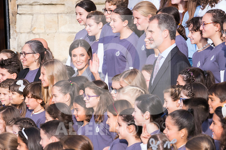 Queen Letizia and King Felipe VI during the arrival to Oviedo because of the Princess of Asturias Awards 2019 . October 17, 2019.. (ALTERPHOTOS/ Francis Gonzalez)