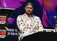 LOS ANGELES - DECEMBER 13:  Tyson Fury at the Fox Sports Deontay Wilder vs Tyson Fury II Los Angeles Press Conference on January 13, 2020 at The Novo by Microsoft at L.A. Live in Los Angeles, California. (Photo by Scott Kirkland/Fox Sports/PictureGroup)