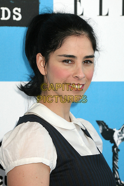 SARAH SILVERMAN.2007 Film Independent's Spirit Awards at the Santa Monica Pier, Santa Monica, California, USA,.24 February 2007..portrait headshot.CAP/ADM/BP.©Byron Purvis/AdMedia/Capital Pictures.