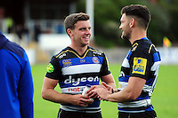 George Ford of Bath Rugby looks on after the match. Pre-season friendly match, between the Scarlets and Bath Rugby on August 20, 2016 at Eirias Park in Colwyn Bay, Wales. Photo by: Patrick Khachfe / Onside Images