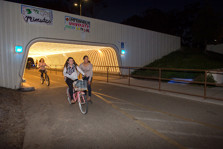 Pardall tunnel lit with LED's