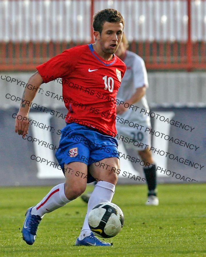Miralem Sulejmani Sport Soccer Football Fudbal U21 Mladi Reprezentacija National Team Serbia Srbija Norveska Norway Novi Sad 15.11.2009. photo copyright © : Pedja Milosavljevic / STARSPORT / +381641260959 / thepedja@gmail.com