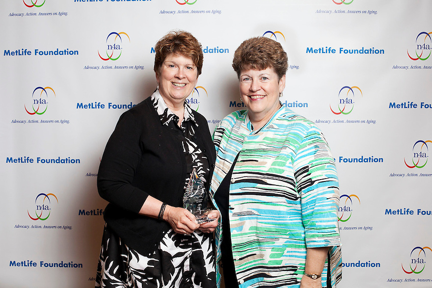 Silver honoree Mary Nellis, left, and Denise O'Connor, right, at the Older Volunteers Enrich America Awards at the Double Tree Hotel in Washington, DC on Friday, June 17, 2011.