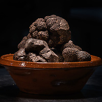 Melbourne - June 15, 2018: Truffles from Stonebarn in Manjimup at the Annual Truffle Dinner at Philippe Restaurant in Melbourne, Australia. Photo Sydney Low