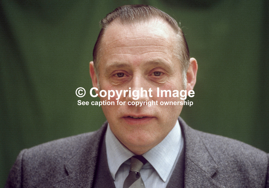 Jack Hassard, N Ireland official, Union of Communications Workers, 19840050JH1.<br />