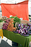 USA, Oregon, Ashland, Barking Moon Farm produce for sale at the Rogue Valley Growers and Crafters Market