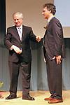 Jeremy Travis presents award to Thomas J. Dart, at the John Jay Justice Award ceremony, April 5 2011.