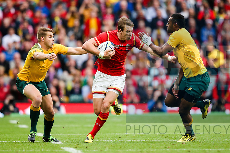 Wales' Liam Williams, Australia's Tevita Kuridrani and Australia's Drew Mitchell - Rugby World Cup 2015 - Pool A - Australia v Wales - Twickenham Stadium - London- England - 10th October 2015 - Picture Charlie Forgham Bailey/Sportimage