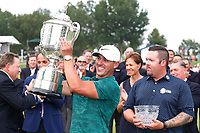 Brooks Koepka (USA) holds the trophy after winning the 100th PGA Championship at Bellerive Country Club, St. Louis, Missouri, USA. 8/12/2018.<br /> Picture: Golffile.ie | Brian Spurlock<br /> <br /> All photo usage must carry mandatory copyright credit (&copy; Golffile | Brian Spurlock)