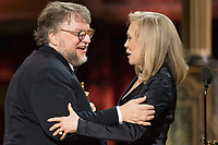 Faye Dunaway presents the Oscar&reg; for best motion picture of the year to Guillermo del Toro for work on &quot;The Shape Of Water&quot; during the live ABC Telecast of The 90th Oscars&reg; at the Dolby&reg; Theatre in Hollywood, CA on Sunday, March 4, 2018.<br /> *Editorial Use Only*<br /> CAP/PLF/AMPAS<br /> Supplied by Capital Pictures